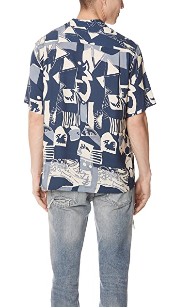 Portuguese Flannel Cuca Abstract Short Sleeve Shirt
