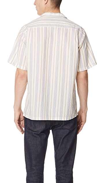 Portuguese Flannel Striped Camp Shirt