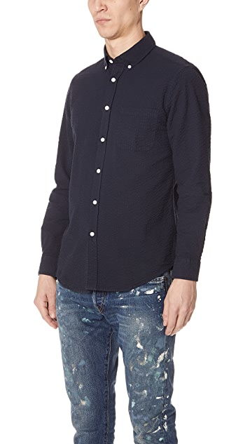 Portuguese Flannel Atlantico Seersucker Long Sleeve Shirt
