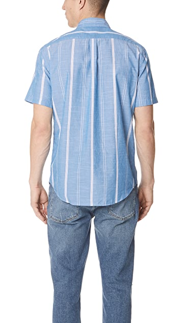 Portuguese Flannel Ceu Striped Short Sleeve Shirt