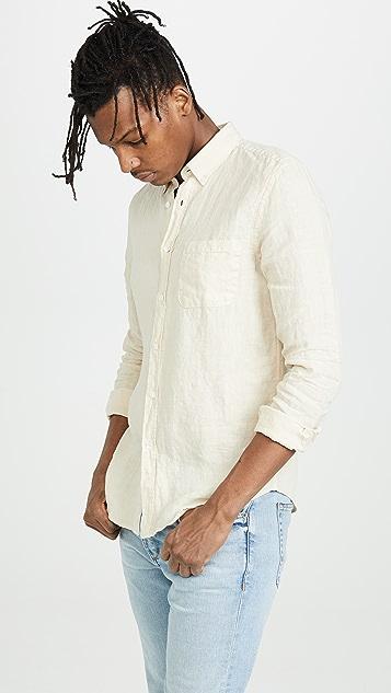 Portuguese Flannel Linen Button Down Shirt