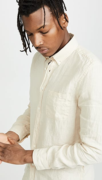 Portuguese Flannel Linen Button Down Shirt