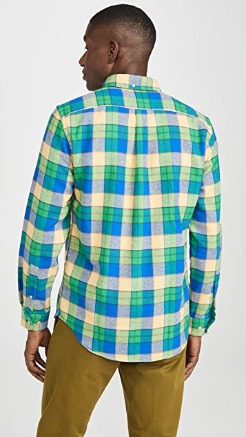 Portuguese Flannel Alpes Plaid Flannel Button Down Shirt