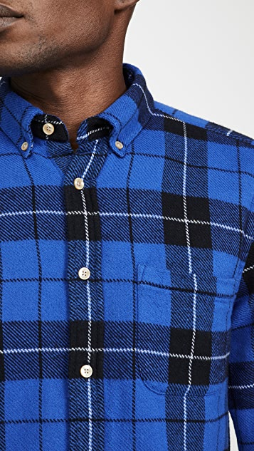 Portuguese Flannel Colorado Plaid Flannel Button Down Shirt