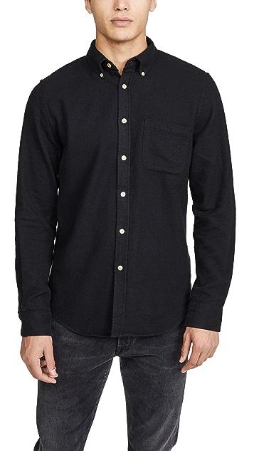 Portuguese Flannel Teca Melange Flannel Button Down Shirt