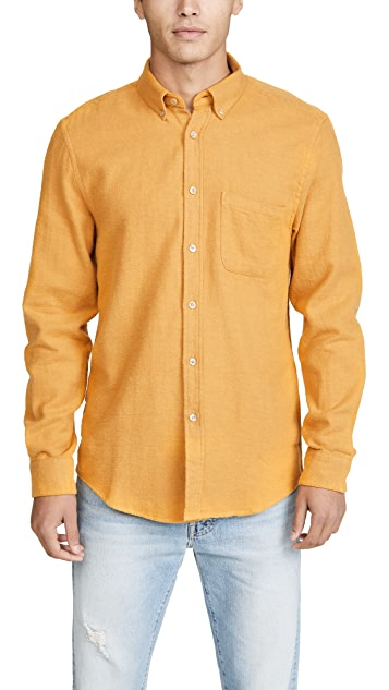 Portuguese Flannel Teca Melange Flannel Button Down Shirt