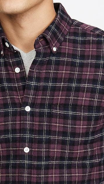 Portuguese Flannel Studio Plaid Flannel Button Down Shirt