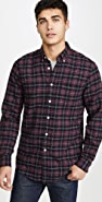 Portuguese Flannel Studio Plaid Flannel Button Down Shirt