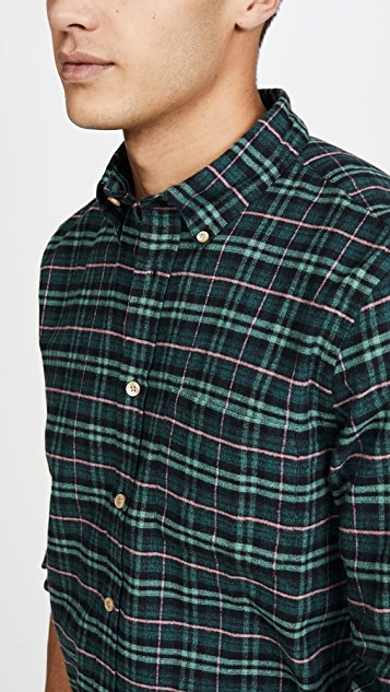 Portuguese Flannel Future Plaid Flannel Button Down Shirt