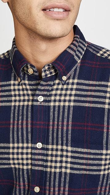 Portuguese Flannel Tomar Plaid Flannel Button Down Shirt