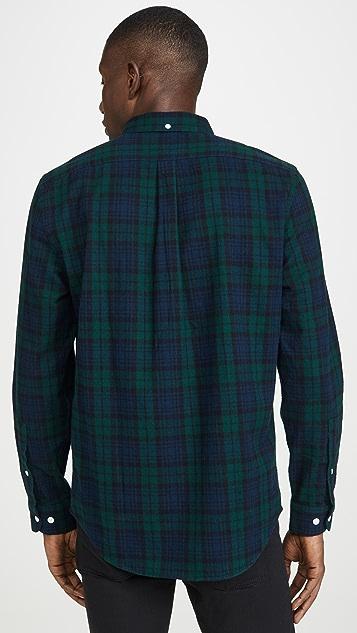 Portuguese Flannel Bonfim Plaid Flannel Button Down Shirt