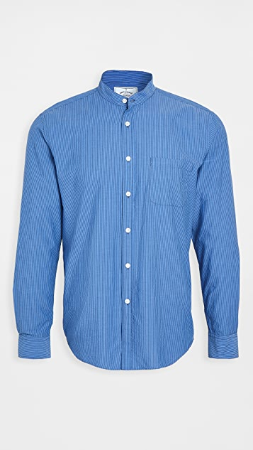 Portuguese Flannel Mao Band Collar Button Down Shirt