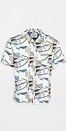 Portuguese Flannel Geometry Short Sleeve Button Down Shirt