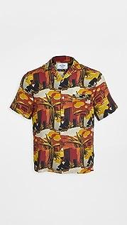 Portuguese Flannel Santa Fe Short Sleeve Button Down Shirt