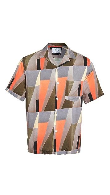 Portuguese Flannel Architecture Short Sleeve Button Down Shirt
