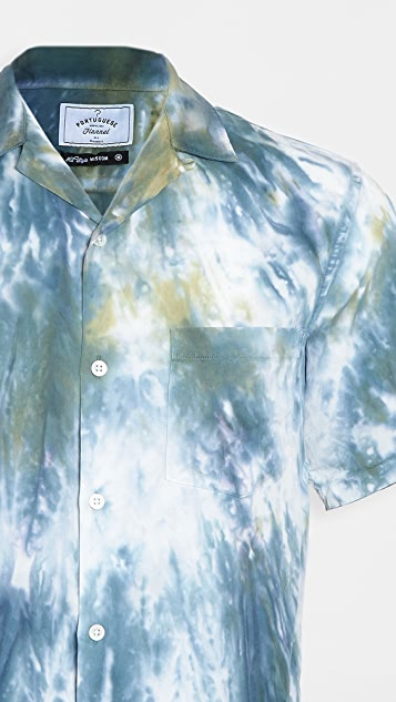 Portuguese Flannel Messy Dogtown Short Sleeve Button Down Shirt