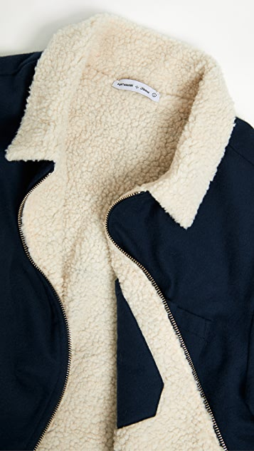 Portuguese Flannel Sherpa Reversible Shirt Jacket