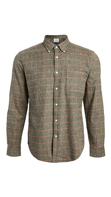 Portuguese Flannel Plaid Flannel Button Down Shirt