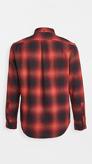 Portuguese Flannel Shadow Plaid Flannel Button Down Shirt