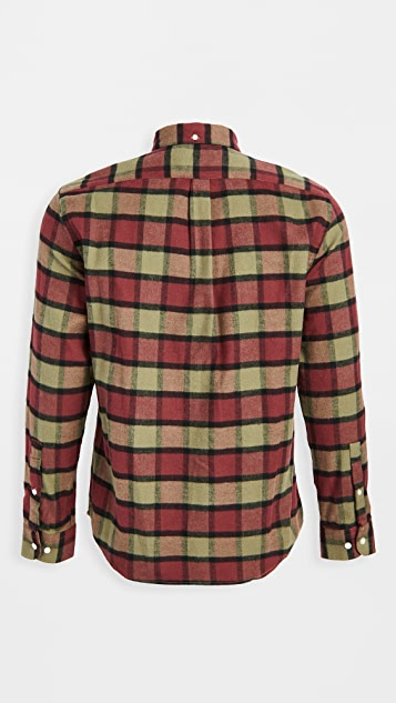 Portuguese Flannel Plaid Flannel Button Down Shirt