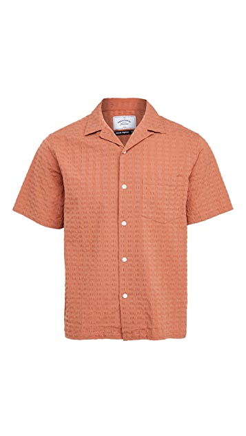 Portuguese Flannel Square Seersucker Short Sleeve Shirt