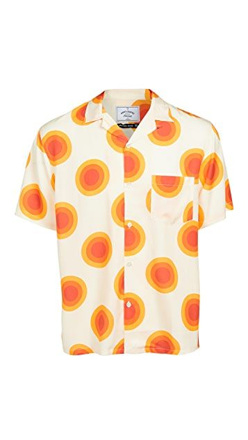 Portuguese Flannel Sun Print Short Sleeve Shirt