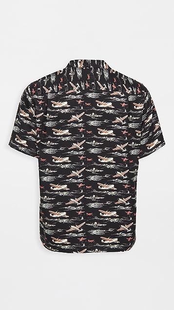 Portuguese Flannel Vintage Aeronautic Short Sleeve Shirt