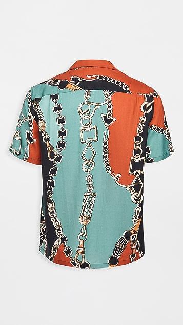 Portuguese Flannel 70'S Nautical Short Sleeve Shirt