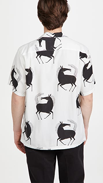 Portuguese Flannel Horse Short Sleeve Shirt