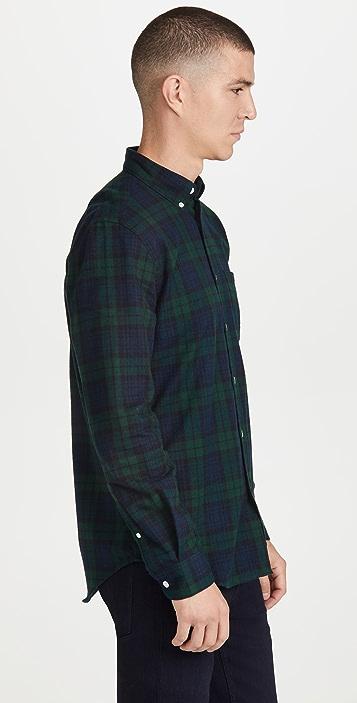 Portuguese Flannel Bonfim Blackwatch Button Down Shirt