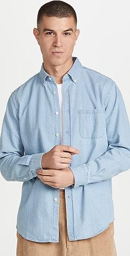 Portuguese Flannel - Washed Denim Button Down Shirt