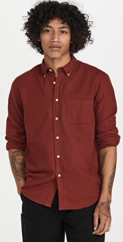 Portuguese Flannel - Teca Brushed Flannel Button Down Shirt