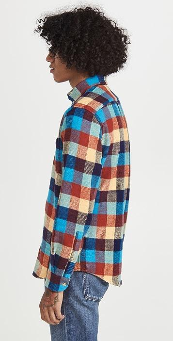 Portuguese Flannel Bright Multi Plaid Flannel Button Down Shirt