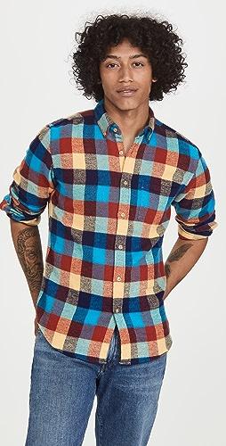 Portuguese Flannel - Bright Multi Plaid Flannel Button Down Shirt