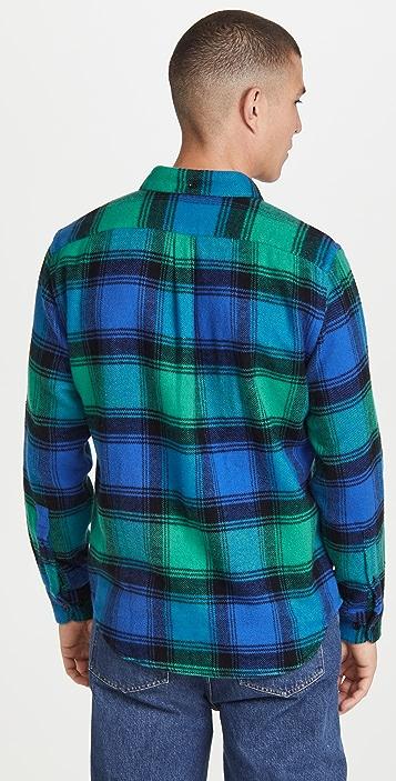 Portuguese Flannel Bright Plaid Flannel Button Down Shirt