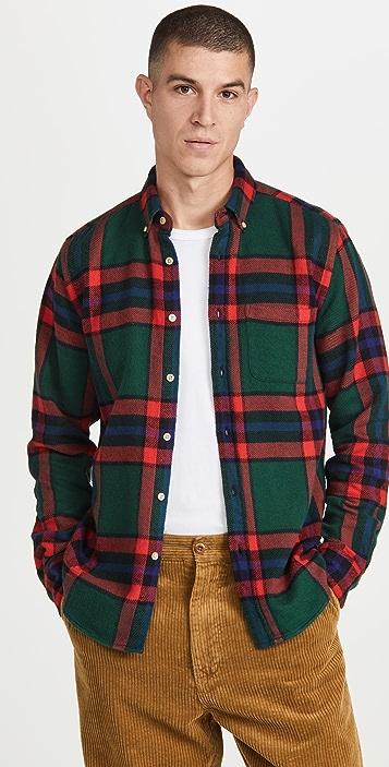 Portuguese Flannel Winter Blanket Plaid Flannel Button Down