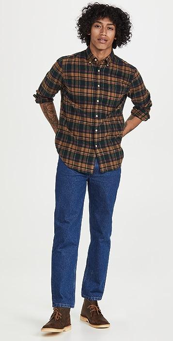 Portuguese Flannel Woods Plaid Flannel Button Down Shirt