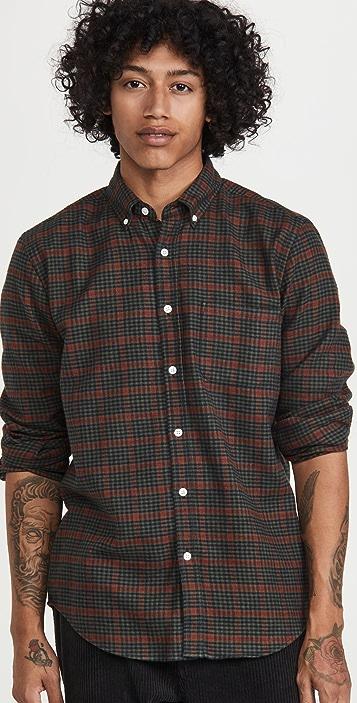 Portuguese Flannel Coimbra Plaid Flannel Button Down Shirt