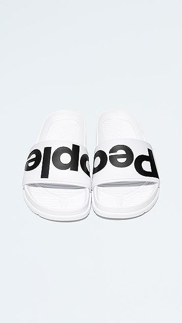 People Footwear Lennon Slides - White