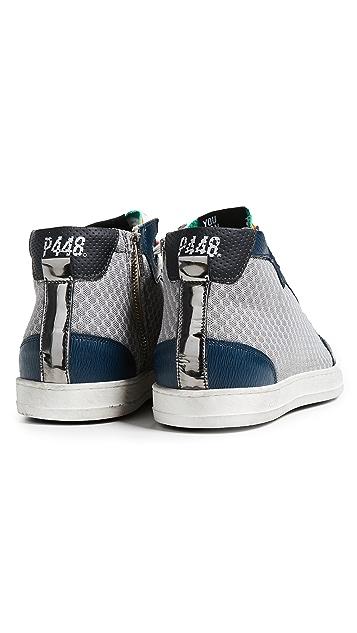 P448 High Top Tech Mesh Sneakers