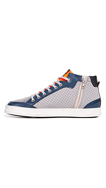 P448 High Top Tech Mesh Sneakers
