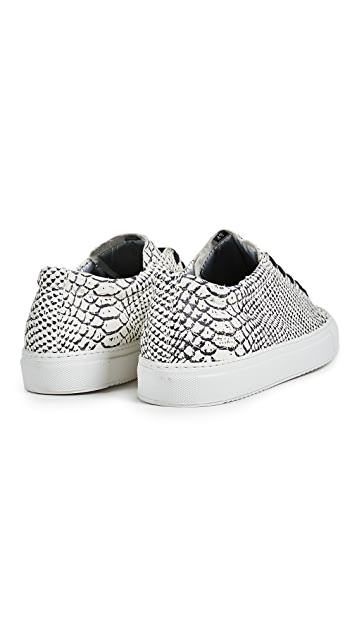 P448 Low Top Painted Python Sneakers