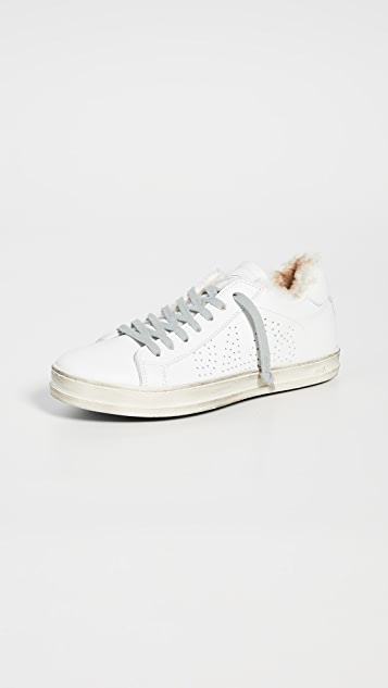 P448 F9 John Faux Fur Sneakers