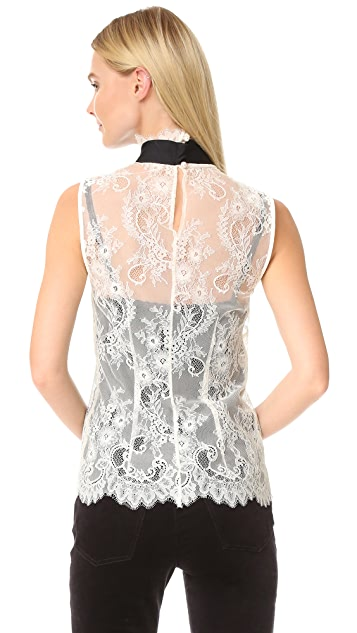 Philosophy di Lorenzo Serafini Sleeveless Lace Blouse