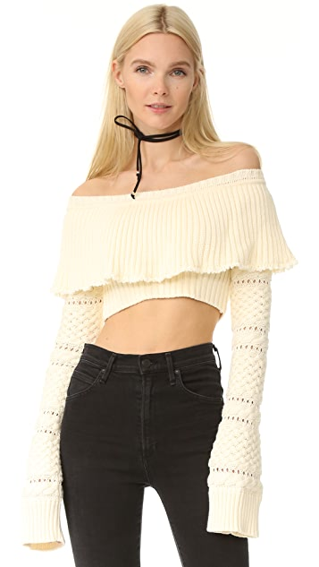 Philosophy di Lorenzo Serafini Cropped Sweater