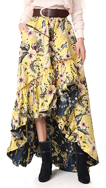 Philosophy di Lorenzo Serafini High Low Skirt