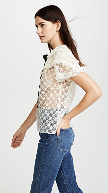 Philosophy di Lorenzo Serafini Short Sleeve Blouse