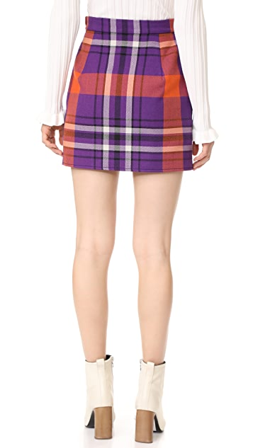Philosophy di Lorenzo Serafini Plaid Miniskirt