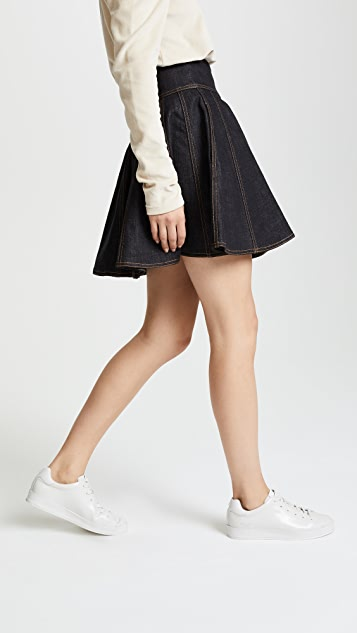 Philosophy di Lorenzo Serafini Denim Flip Miniskirt