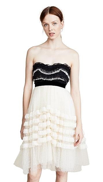 Philosophy di Lorenzo Serafini Strapless Ruffle Dress